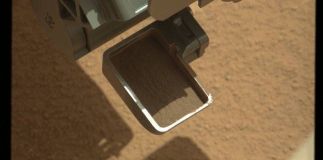 First Scoop by Curiosity