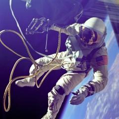 Ed White outside the Gemini spacecraft (NASA)