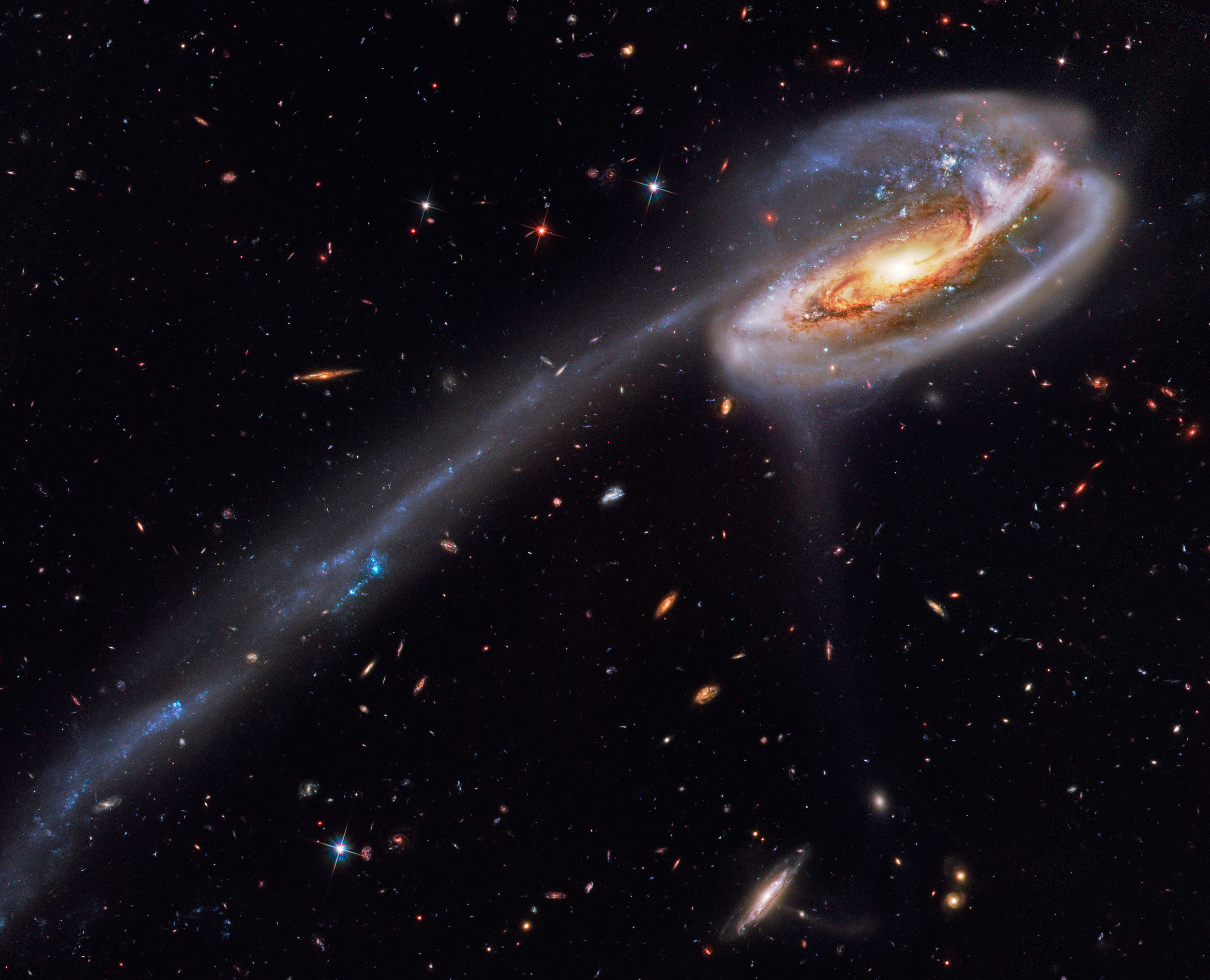 Disrupted spiral galaxy Arp 188, the Tadpole Galaxy
