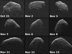 Nine new radar images of near-Earth asteroid 2012 PA8 were obtained with data collected by NASA's Deep Space Network antenna (NASA)