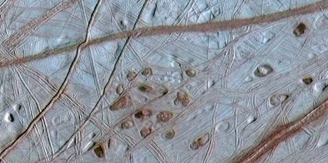 The ridged surface of Jupiter's moon, Europa (NASA)