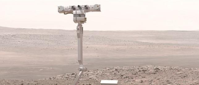Artist concept of an ExoMars rover (ESA) (thumb)