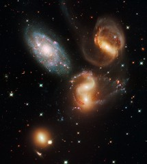 Stephan's Quintet (NASA/ESA Hubble)