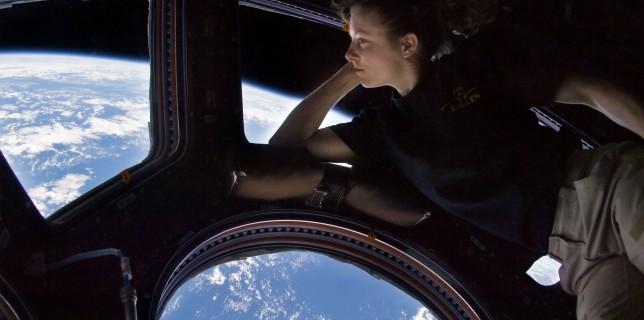 Astronaut Tracy Caldwell Dyson inside the European built Cupola (NASA)