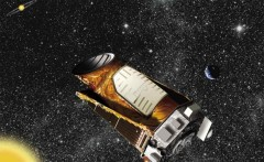 Artist's concept of Kepler in the distant solar system. Image credit: NASA/JPL-Caltech