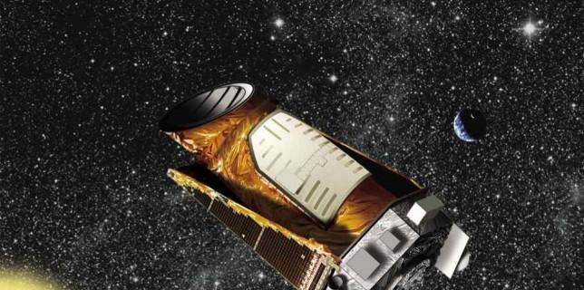 Artist's concept of Kepler in the distant solar system. Image credit: NASA/JPL-Caltech