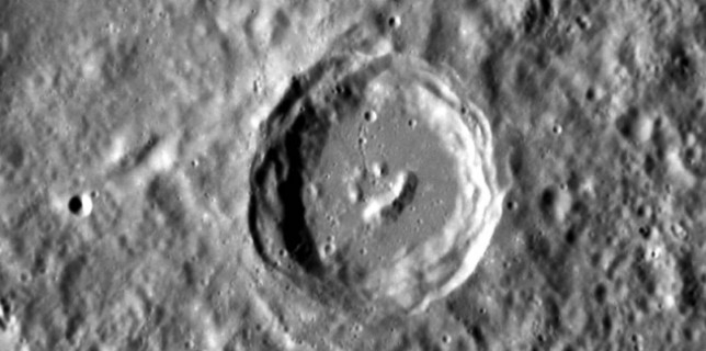Mercury happy crater (NASA)