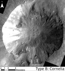 This image shows examples of long, narrow, sinuous gullies that scientists on NASA's Dawn mission have found on the giant asteroid Vesta (NASA)