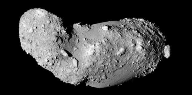 25143 Itokawa as observed by the Japanese spacecraft Hayabusa (JAXA)